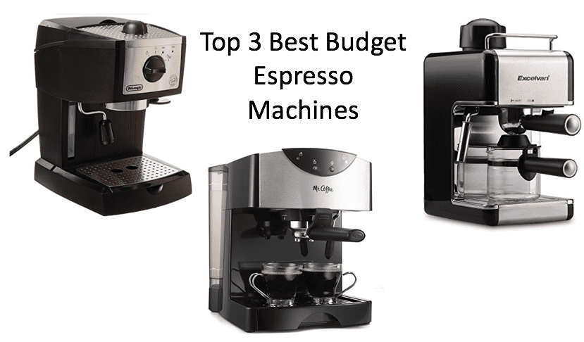 top 3 best budget espresso machines at home