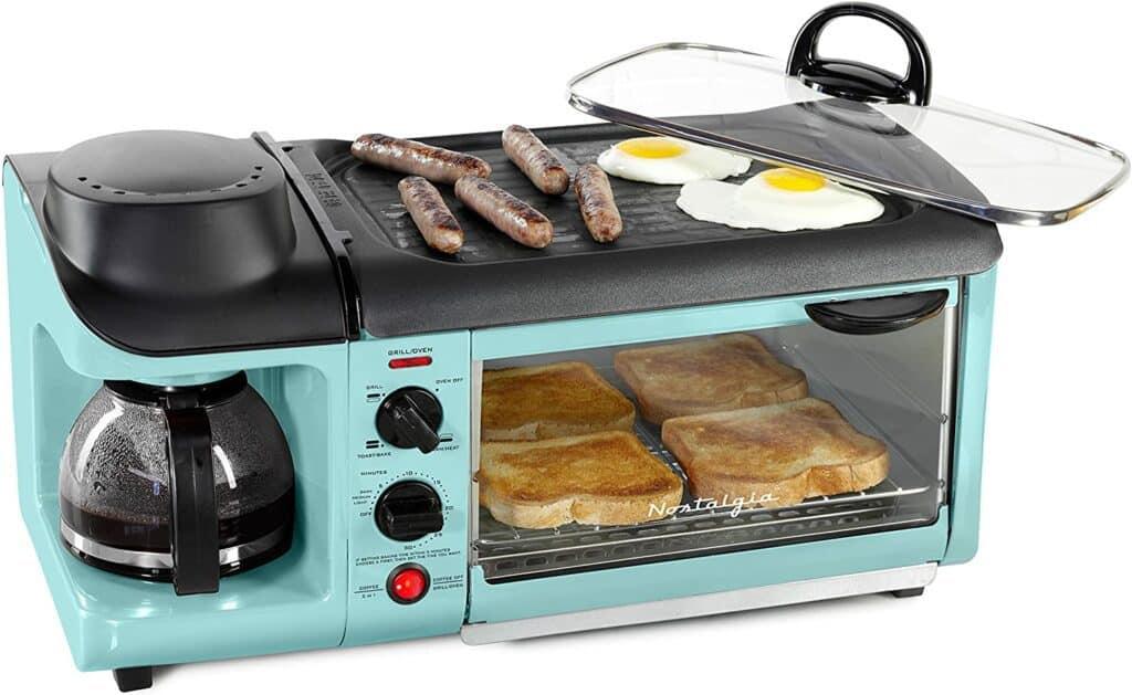 Nostalgia BSET300AQ Retro 3-in1 Family Size Breakfast Station