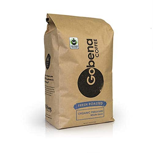 Fair Trade Organic Peruvian Whole Bean 5 lb. Fresh Roasted Specialty Coffee