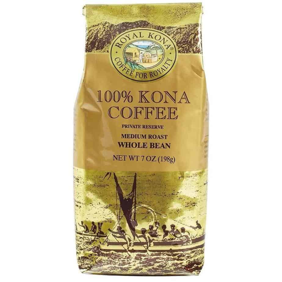 Koa Coffee Private Reserve Medium Roast Whole Bean Kona Coffee