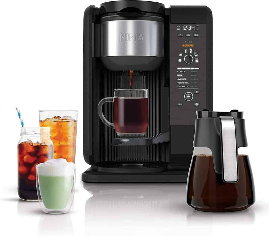 Ninja hot and cold coffee brewed system
